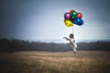 Balloon Ride (tonyajbender) Tags: floating flying dog pet photoshop levitation balloons photochallenge2016 photochallengeorg surreal