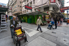 Generations (kiatography1) Tags: hongkong hong kong urban land urbanscapes landscapes scapes buildings uwa ultrawide ultrawideangle sonya7r hongkongisland sunset sunrise city architecture outdoor scenery twilight sony a7r street streets streetscape scape human elements people local culture streetshots streetphotography road senior elderly citizen wheelchair walkingaid walking aid pram baby generation generations