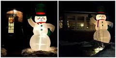 Snowman, Rose Park Drive, Toronto, ON (Snuffy) Tags: christmas christmaslights snowman roseparkdrive toronto ontario canada snowparkdrive level1photographyforrecreation niceasitgetslevel1