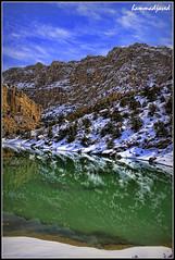 Blue-White-Green (hammadjaved) Tags: hammad javed maddy wali tangi hiking treking balochistan pakistan quetta dam water snow canon1100d canon