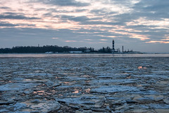 Mangaļsala (`TOMS`) Tags: latvia riga latvija daugava mangalsala river water baltic sea evening ice cold winter sky clouds pier shore nikon d3200 nikkor 35mm afsdxnikkor35mmf18g outdoor nature
