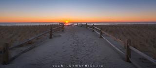 Beach Path Sunrise Panorama