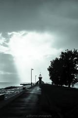 Majakka (gullihanne) Tags: contrast finland fyrlykt himmel kontrast light lighthouse lys monochrome monokrom silhouette silhuett silouette sky skyer majakka nallikarimajakka uvær regn rain storm oulu suomi