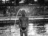 Les jours d'été (PaxaMik) Tags: summertime summer été joursdété soleil sun baignade baigneur swimmer gouttes drops silhouette noiretblanc noir n§b lumière light contraste