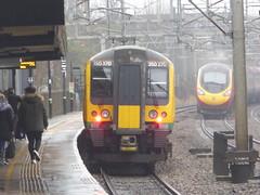 350370 & Virgin 'Pendolino' at Tamworth (16/1/17) (*ECMLexpress*) Tags: london midland class 350 desiro emu 350370 tamworth low level wcml virgin trains 390 pendolino