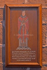 Priest memorial (James O'Hanlon) Tags: chester cheshire john baptist johnthebaptist church cathedral ruins norman medieval effigy stained glass chapel saint st