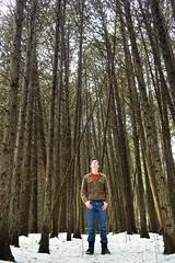 Self portrait (brentbeme) Tags: self portrait tree forest person snow winter canada solitude calm nature beauty