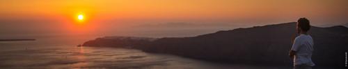 Primeiros momentos em Santorini