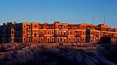 Sunset over the Old Cataract Hotel, Aswan, Egypt (asitrac) Tags: eo aswan egypt eg assouan hôtel hotel ancien historique nil nile rouge red sunset oldcararact icon iconic landmark asitrac
