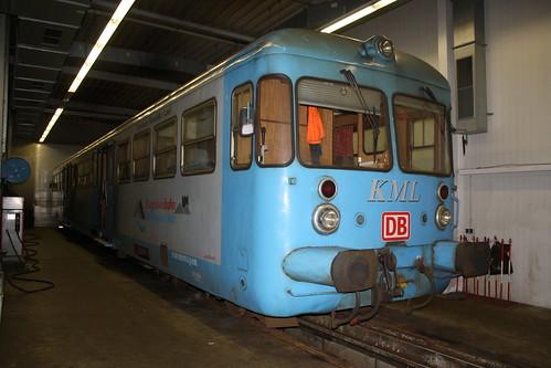 KML: VT 407 in der Werkstatt in Klostermansfeld