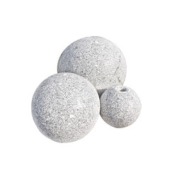 Granit_balls_gebohrt_granit_grau_freigestellt