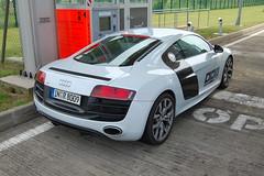 Audi R8 V10 (D's Carspotting) Tags: audi r8 v10 france coquelles calais white 20100613 inr8009 le mans 2010 lm10 lm2010