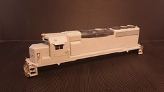 CSX - MOTHER (Road Slug Power Unit) GP40-2 #6457 - Stripped - HO Scale - Cond Front 3-4 - Jun-7-15 - K. Crawley (dcmkris) Tags: atlas csx hoscale gp402 custompainted darkfuture roadslug mothermate