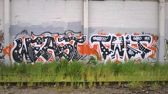 Weast & Twit (Nineteen Seventy Seven) Tags: road art oregon train portland graffiti artist pacific northwest tracks rail rr ups twit ptown bnsf 503 weast upsk