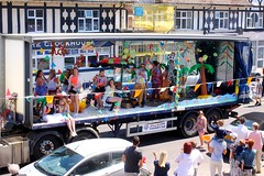 EPFC's vision of the South Sea Tropics (tiger289 (The d'Arcy dog supporters club)) Tags: park flowers trees sea party plants cars beach dogs buses festival rock architecture kids fun outdoors heraldry waves dancing westsussex fairground events families band parties fair parade clocktower mums vehicle greenbelt dads familyfun functions fayre boules plaques streetparty rnli eastpreston clockhouse villagelife villagegreen breakwaters carshows fireservice popgroup sealane pompomgirls musicrock wsfs villagefestival bandrock searoad wheeledvehicle villageparty firetenders lifeboatservice wheeledtransport penangvillagerestaurant rollmusicpop musicsongssingerperformersguitarsdrumsbass guitarorgankeyboardsamplifierspa systemstagerostrumparty