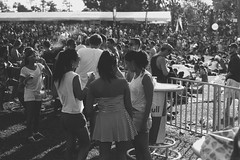 The Cool People (OzGFK) Tags: street people blackandwhite film monochrome festival rock analog concert singapore asia afternoon band streetphotography marinabay pentaxmx lanewayfestival gardensbythebay marinabaysg