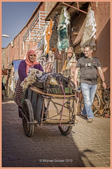 Woman & Cart (mikesa10) Tags: streetphotography medina marrakesh canon6d marrakeshmedina morocco2015