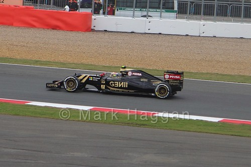 Pastor Maldonado in the 2015 British Grand Prix at Silverstone