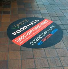 Retail, Taste Food Hall, Floor Graphics