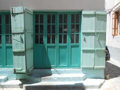 RHODES TYPE AND TEXTURES (Chris Draper) Tags: door windows texture window architecture paint doors textures greece rhodes meditteranean brightcolour greekisland