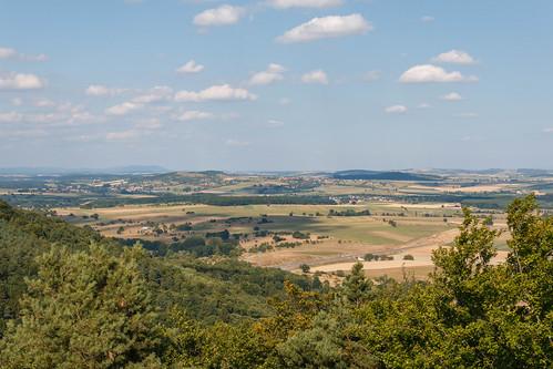 Vue sur Haguenau depuis le Mont Saint-Michel à Saint-Jean-Saverne