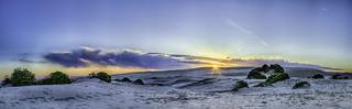 HDR Sunset Panorama of Stockton Beach