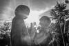 Matin (Sofía Postigo) Tags: camping blackandwhite france blancoynegro portraits niños niño francia siluetas hdr greyscale bretaña hardlight