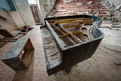 Grand Piano, Pripyat (tom.frohnhofer) Tags: chernobyl ukraine pripyat nuclear urban explorer atomic power station 2016 music school auditorium piano grand derelict abandoned