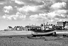 I'm ready to go fishing (saxonfenken) Tags: 6816boat 6816 pregame sldburg blackandwhite fishingboat beached beach scape gamewinner storybook friendlychallenges