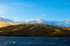 Kaheawa Wind Power (Kyle R. McCluer) Tags: windfarm windpower kaheawawindpower windturbine turbines ocean maui mauihawaii hawaii pacificocean waves water oceanphoto sunset sunshine clouds landscape hawaiilandscape hawaiian oceansunset pacific