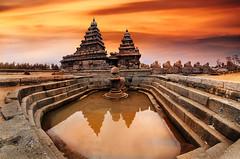Shore Temple Mahabalipuram (Swasti Verma) Tags: mahabalipuram pondicherry beach india travel vacation shoretemple temple architectureunesco city architecture reflection