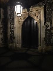 church door at night (Hayashina) Tags: lamp door church shadow night london