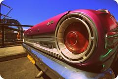 IMG_9840 Pink Fairlane (old style) (Rodolfo Frino) Tags: automobile automobil car fairlane pink pinkfairlane auto coche carro bright sunny blue dof fireline vehicle digital metal