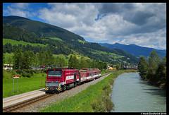 Pinzgauer Lokalbahn 81, Wenns 07-08-2016 (Henk Zwoferink) Tags: wenns salzburg oostenrijk pinzgauer lokalbahn henk zwoferink slb tauern zell am see krimml salzburger gmeinder