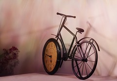 Time Travel ;o) (Elisafox22 slowly beating the Shingles!) Tags: elisafox22 sony ilca77m2 100mmf28 macro macrolens telemacro sliderssunday hss bicycle clock wall shadows leaning metal clockface postprocessing texturing textures elisaliddell©2016