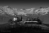 landscape (sanino fabrizio) Tags: paesaggio landscape chiesa collina casa case montagne catena montuosa neve inverno vigneti alberi veduta italia piemonte cuneo langhe dogliani canon 550d 55250