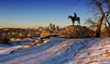 Merry Christmas KC (KC Mike D.) Tags: midwest christmas season winter snow missouri kansascity buildings city downtown cityscape scout statue
