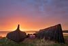 Golden Sunrise (Pixelda) Tags: pixelda sunrise boats holy island
