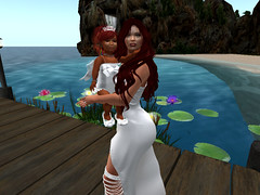 Red Hair Beauty Queens (Honor Winter Mohogany Di'Marzio) Tags: firestorm secondlife mothersday mommy mom daughter daughtersday babygirl baby girl family pretty redheads prettyinwhite queen princess royalty oceanview pond lillypads flowers deck milf beautyqueens beach waterfall secondlife:region=serenityvista secondlife:parcel=turnerestates~prettyispinkgestures secondlife:x=13 secondlife:y=205 secondlife:z=22