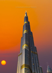 Burj Khalifa | Dubai (wolnerchris) Tags: dubai uae burj khalifa sunset sunrise city cityscape skyscrapers canon eos 1d x ef 2470 mm christopher wölnerhanssen swedish sun downtown