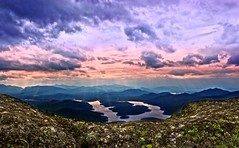Sunset Over Adirondacks (@marinastory) Tags: mountains sunset adirondacks top atthetop sunsetatthetopofthemountain mirrorlake lakeplacid ny mountainlake mountainrange park clouds sky beautiful nature horizon climbing colors