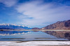 Divided Reflections (TreeRose Photography) Tags: water lake reflections mountains snow horizon mirrorimage blue california owenslake inyocounty