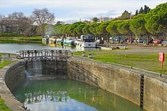 Le port de Carcassonne sur le canal du midi