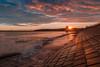 Sea Wall Sunrise³ (Derek Coull) Tags: aberdeen beach sunrise seawall squares concrete waves sunflare sunstar marineoperationscentre aberdeenharbour firstphoto2017 samsungnx500 samsung1650mmf3556powerzoomlenskit hdrmergelightroomcc