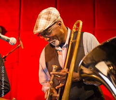 Charlie Haden's Band Trombone (Tempesto) Tags: henrygrimes ny manhattan newyork nyc newyorkcity margret 116east27thstreet jazzstandard marcpalumbo charliehadensliberationmusicorchestracarlabley nikond800 lexingtonave