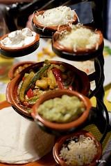 Vegetarian fajitas (Kym.) Tags: andalucía andalusia empty fajita finished mexican nerja photostream plate restaurant somebodyelseskitchen spain table texmex veg vegetarian veggie day7