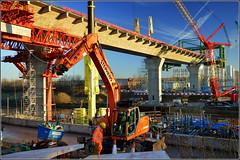 Mersey Gateway Project (Southern Approach Viaduct,Runcorn) 20th January 2017 (Cassini2008) Tags: merseygatewayproject rubricabridgeswingtraveller manchestershipcanal viaduct