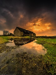 Old Barn (Richard Walker Photography) Tags: abandoned agricultural architecture beautiful beauty buckinghamshire cloud clouds countryside dramatic em1 farming farmland field landscape landscapephotography omd reflection ruin ruralscene shed stormy sunshine unitedkingdom barn
