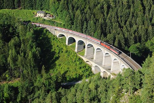 ÖBB 1144 + 1016 | Kalte-Rinne Viadukt | Wolfsbergkogel - Breitenstein (AT) 30.7.2016