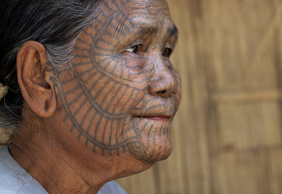 7Xăm mặt ptasan là truyền thống của bộ tộc Atayal (Đài Loan)